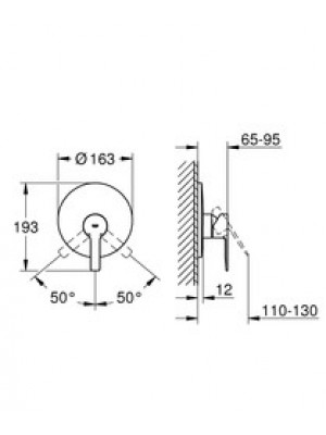 Grohe Lineare New Ankastre Duş Bataryası