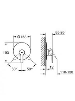 Grohe Lineare New Ankastre Duş Bataryası Paslanmaz Çelik