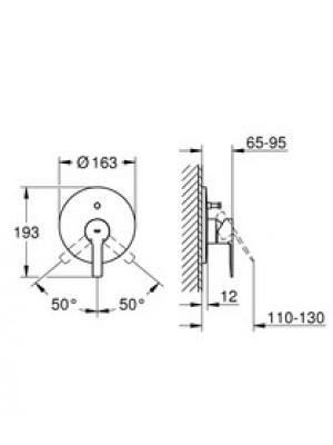 Grohe Lineare New Ankastre Banyo Bataryası Paslanmaz Çelik