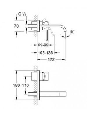 Grohe Allure 2 Delikli Lavabo Bataryası S-Boyut