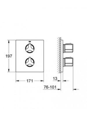 Grohe Allure Termostatik Duş Bataryası