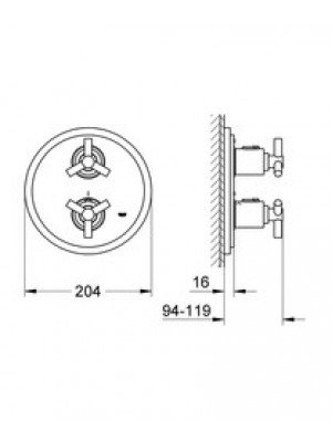 Grohe Atrio Termostatik Duş Bataryası