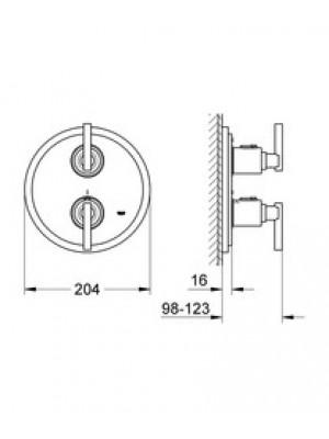 Grohe Atrio Termostatik  Banyo Bataryası