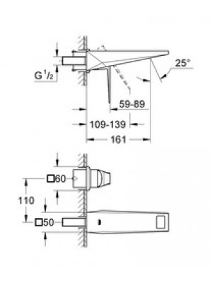 Grohe Allure Brilliant 2 Delikli Lavabo Bataryası S-Boyut
