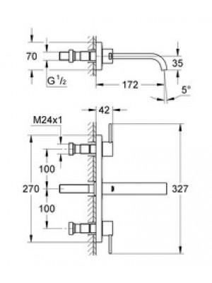Grohe Allure 3 Delikli Lavabo Bataryası S-Boyut