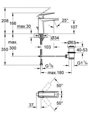 Grohe Allure Brilliant Lavabo Bataryası M-Boyut