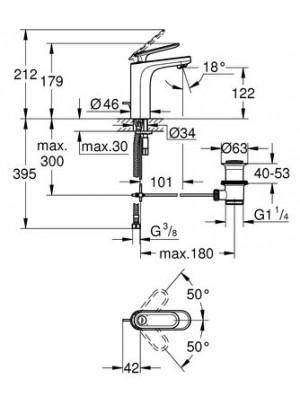 Grohe Veris Tek Kumandalı Lavabo Bataryası M-Boyut
