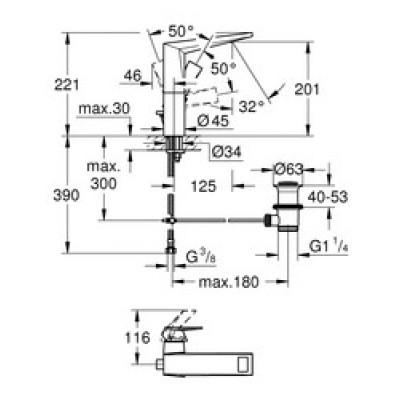 Grohe Allure Brilliant Lavabo Bataryası L-Boyut