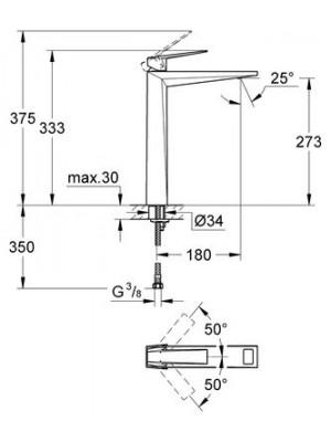 Grohe Allure Brilliant Lavabo Bataryası XL-Boyut