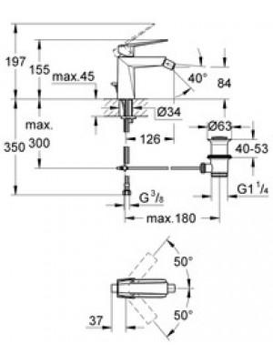 Grohe Allure Brilliant Bide Bataryası M-Boyut