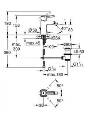 Grohe Grandera Bide Bataryası M-Boyut Krom/Altın