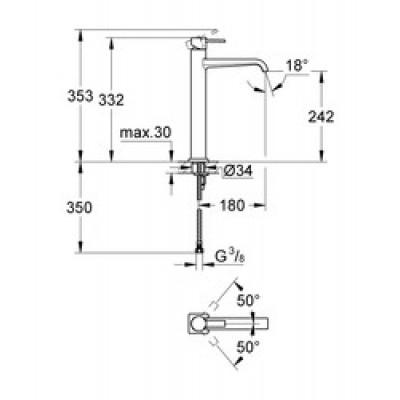 Grohe Allure Lavabo Bataryası XL-Boyut