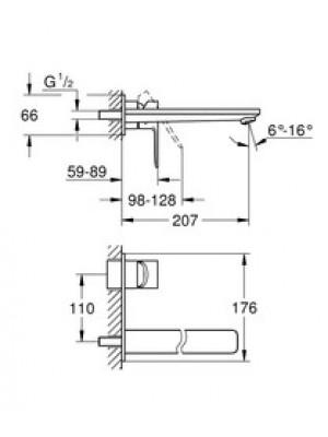 Grohe Lineare New 2 Delikli Lavabo Bataryası L-Boyut Paslanmaz Çelik