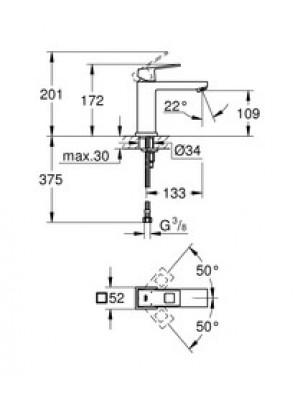 Grohe Eurocube Lavabo Bataryası M-Boyut