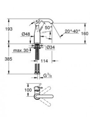 Grohe Essence New Lavabo Bataryası M-Boyut