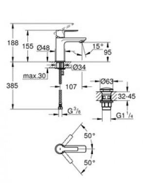 Grohe Lineare Lavabo Bataryası XS-Boyut