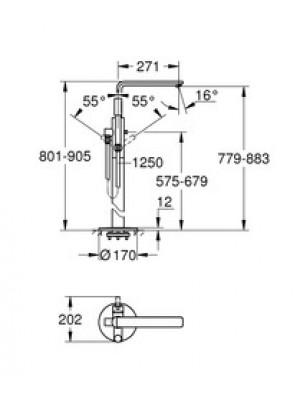 Grohe Lineare New Yerden Küvet Bataryası Paslanmaz Çelik