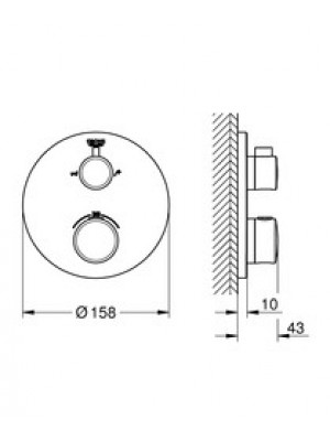 GROHE Grohtherm Termostatik Ankastre Banyo Bataryası