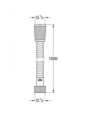 GROHE Relexaflex Metal Hortum