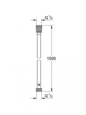 GROHE Silverflex Hortum 1500 mm