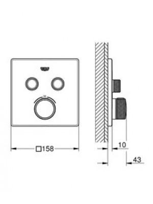 GROHE SmartControl Termostatik Ankastre Banyo Bataryası