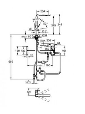 Grohe Essence Foot Control Elektronik Eviye Bataryası