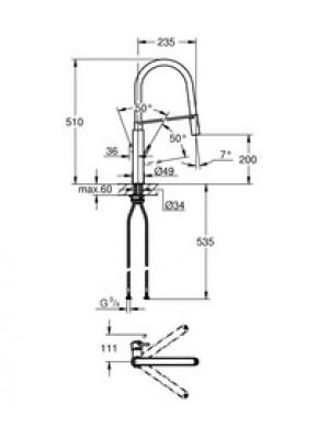 Grohe Concetto Professional Tek Kumandalı Eviye Bataryası