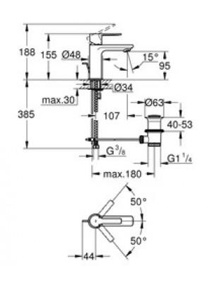 Grohe Lineare Lavabo Bataryası XS-Boyut Paslanmaz Çelik