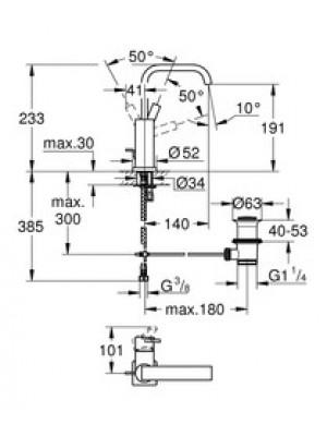 Grohe Allure Lavabo Bataryası L-Boyut