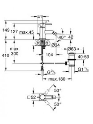 Grohe Allure Bide Bataryası M-Boyut