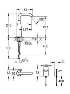 Grohe Essence E Fotoselli Lavabo Bataryası Elektrikli