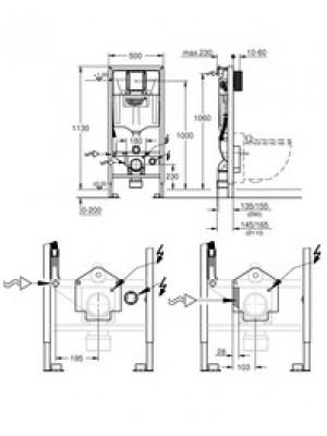 Grohe Sensia klozet sistemi için Rapid SL / pnömatik