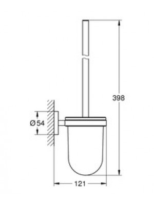 GROHE Essentials Tuvalet Fırçası Set