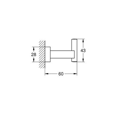GROHE Essentials Cube Havlu/Bornoz Askılığı